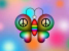 pixelated butterfly by raivcesleinadnayr