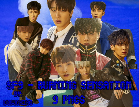 SF9 - BURNING SENSATION   9 PNGS by dowgxiao