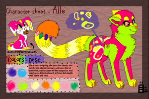 Character Sheet - Alle by Allergria