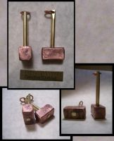 Thor's Hammer Pendants by creativeetching