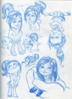 Vanellope Sketchdump by Motorchickensmile