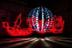 Fire and Ice Orb by 904PhotoPhactory