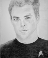 Chris Pine as Captain Kirk by patricemarie