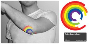 Rainbow Tattoo Mock-up by robot-uprising