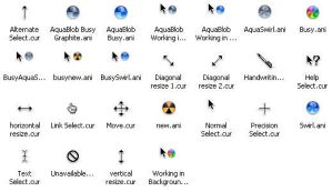 Mac OS X Cursors by cyazian