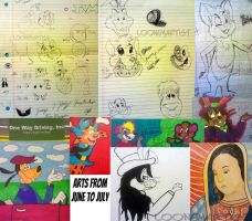 Arts/Sketchdumps from June to July by LooneyArtist