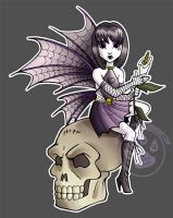 Goth Fairy TShirt by lady-cybercat