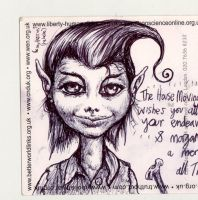 House Pixie biro on paper by mORGANICo-cOM