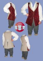 18th C breeches and waistcoat by Janes-Wardrobe