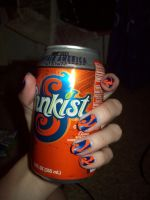 Sunkist inspired nails by jenna-daydreamer93