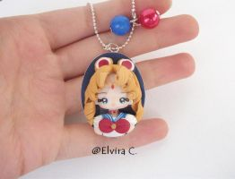 Sailor Moon cameo necklace by elvira-creations