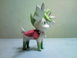 Shaymin Sky Forme Papercraft 2 by riolushinx