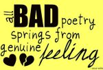 Bad Poetry by hesitant-kisses