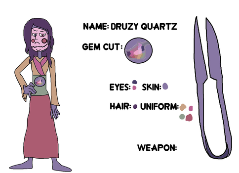 Druzy Quartz's reference sheet by ProtanaArchives94