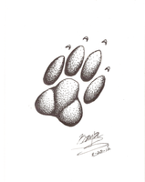 Wolf paw by sketchris