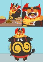 Emboar eat food and then get fatter by MCsaurus