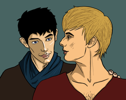 Merlin and Arthur by drwhofreak
