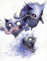 gastly/haunter/gengar are cheshire cats by awfulowafalo