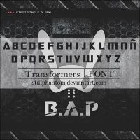 BAP warrior font by StillPhantom