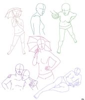 Assorted Poses by aliceazzo