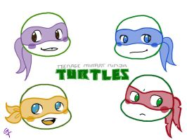 Chibi Turtles by MsGDance