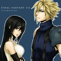 ff7 tifa+cloud by enol001