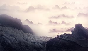Mountains and Clouds by FreddyC