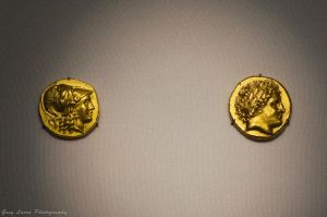 Ancient Greek Gold Stater (1 real, 1 counterfeit) by greglarro