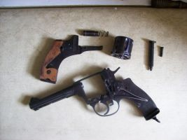 Russian M1895 Nagant Revolver by jinwylie