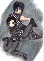Emo Couple: Boy and Girl by sailorchix