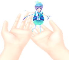 giant hands stage DL by MikiMikuMMD