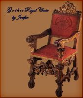 Gothic chair in png by jinifur