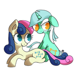 Lyra and Bon Bon by Gingersnaap