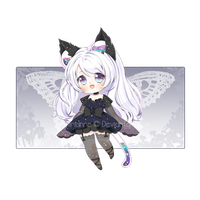 [RAFFLE CLOSED] Adopt #12: Midnight Butterfly by Airianne