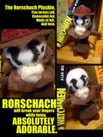 The Rorschach Plushie. by Neverwinterphoenix
