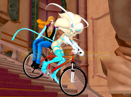 Capcom Frozen Fever: Bike Ride by NekoHybrid