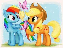 Applejack and Rainbow Dash by igriega13