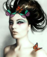 butterfly lady by asfoura
