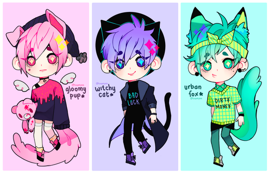 [CLOSED] NEW KEMONOMIMI ADOPTS by txunnpae