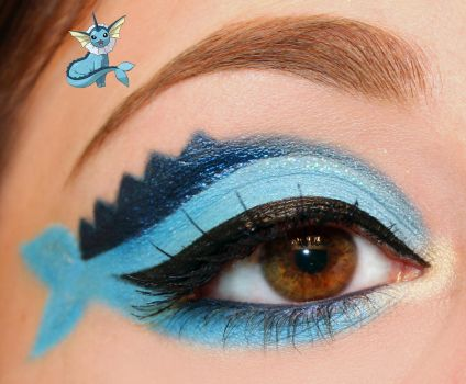 Pokemon Series : Vaporeon Inspired Makeup by Luhivy