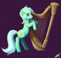Lyra With Harp by Sarochan