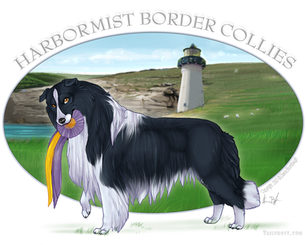 Border Collie Logo -com by tailfrost