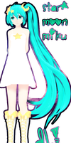 Star Moon Miku by DIBUJOSLOVE