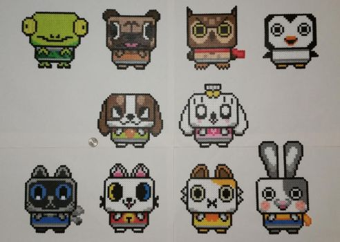 Canimals Perlers by jrfromdallas