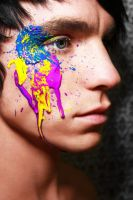 Paint on face by CroftMan93