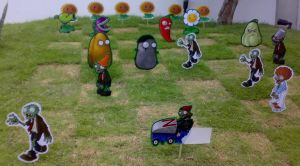 Plants VS Zombies on MY LAWN by guelpacq