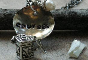 Heart Locket Box for message handstamped Courage by artistiquejewelry