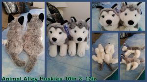 Animal Alley Huskies! 10in and 12in by Vesperwolfy87