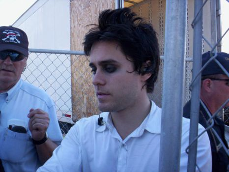 Jared Leto signing for fans. by amiry