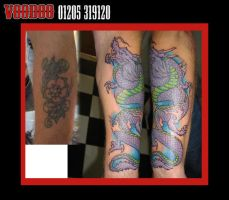 dragon cover up tattoo by yayzus